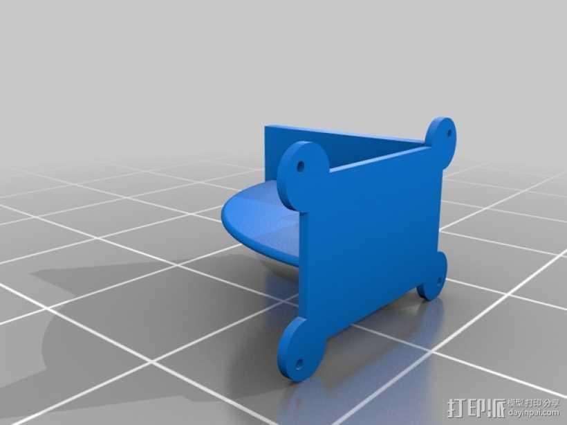 迷你硬盘架 3D打印模型渲染图