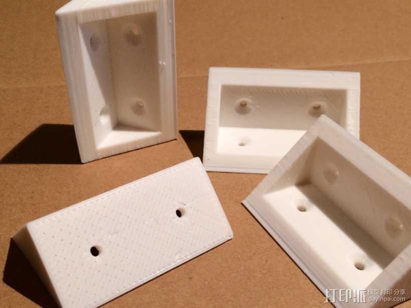 角形托座  3D打印模型渲染图