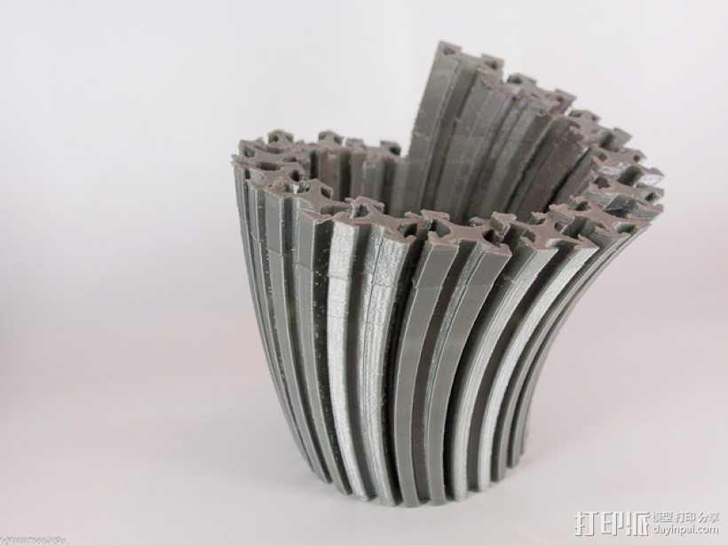 Makerbeam花瓶 3D打印模型渲染图
