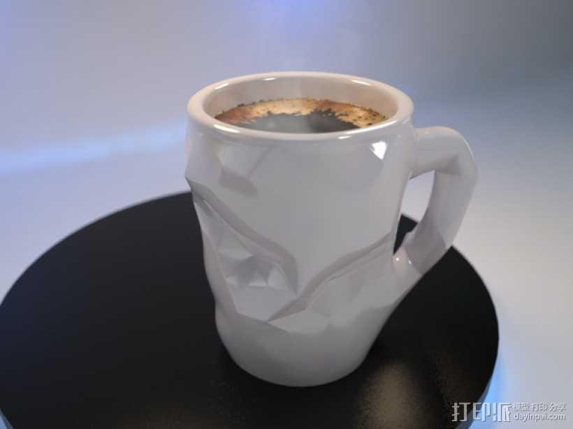 个性化咖啡杯 3D打印模型渲染图