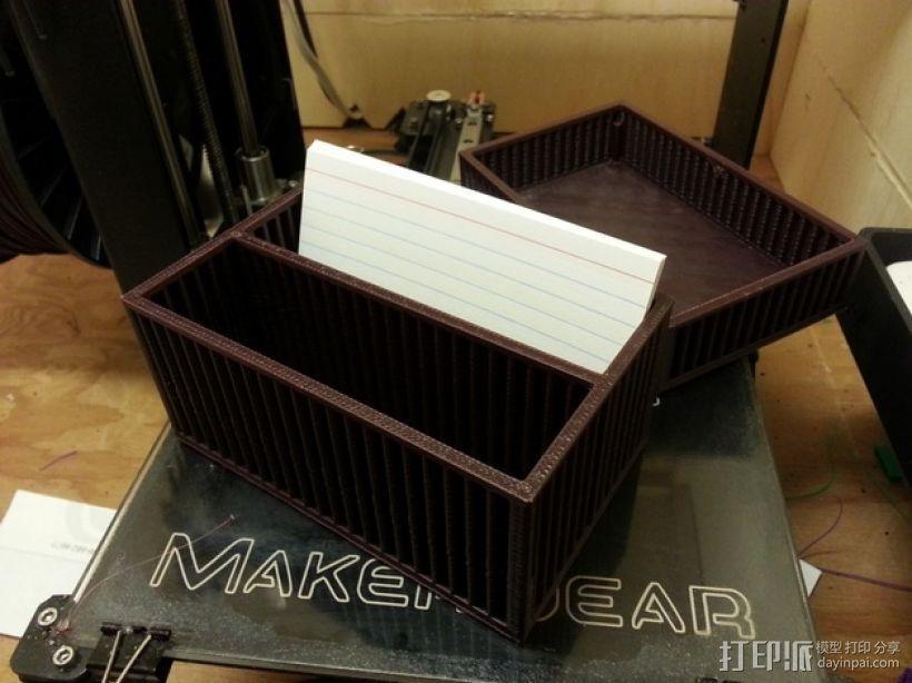 方形卡片盒 3D打印模型渲染图