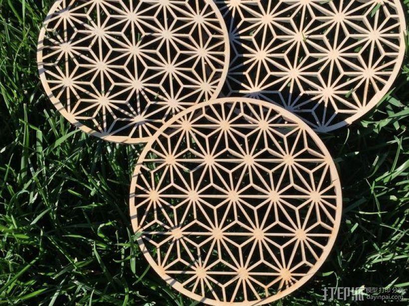 Asanoha木质三脚架 3D打印模型渲染图