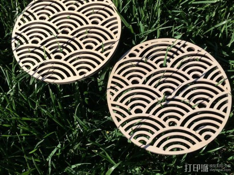 Seigaiha木质三脚架 3D打印模型渲染图