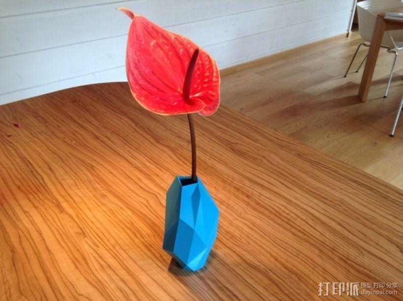 低面数花瓶 3D打印模型渲染图