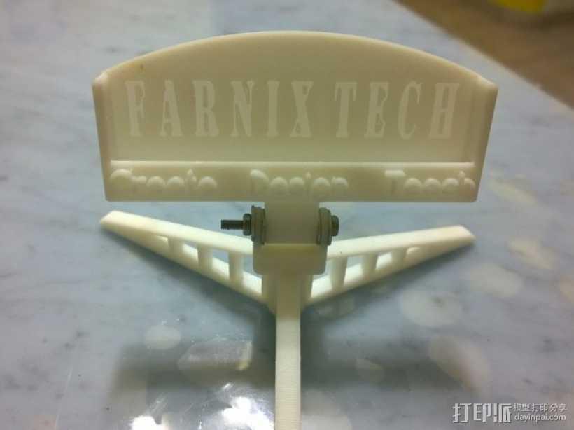 名片支架 3D打印模型渲染图