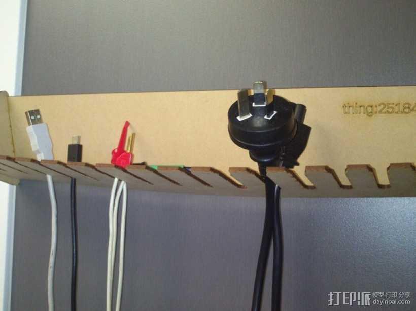 定制化激光切割电缆支架 3D打印模型渲染图