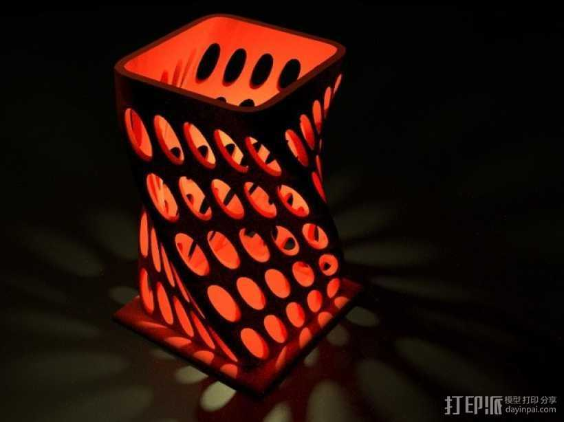 个性化烛台 3D打印模型渲染图