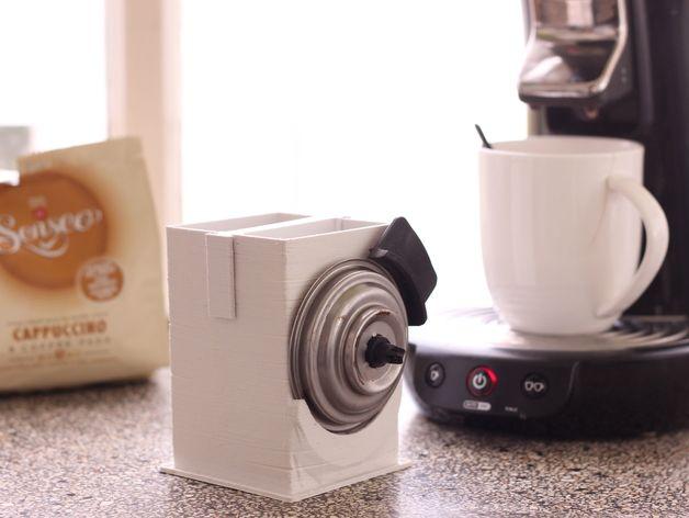 咖啡软包收纳盒 3D打印模型渲染图