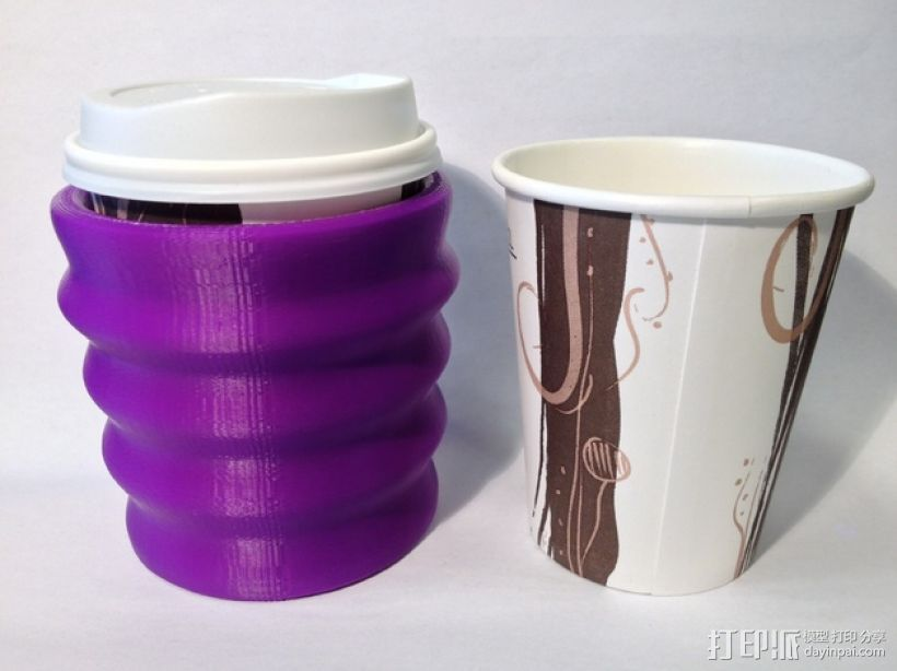 纸杯保护套 3D打印模型渲染图