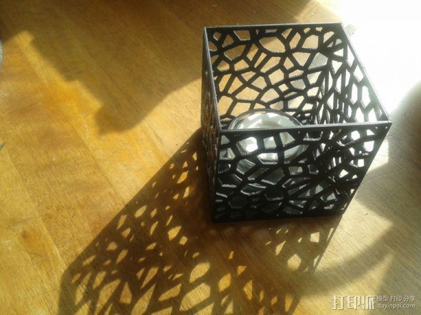 多边形镂空茶灯灯罩 3D打印模型渲染图