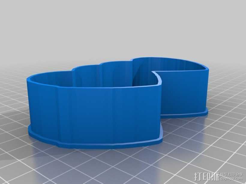心连心 饼干制作模具 3D打印模型渲染图