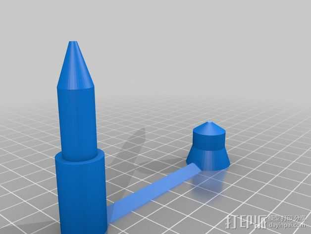 CD/DVD支架 3D打印模型渲染图