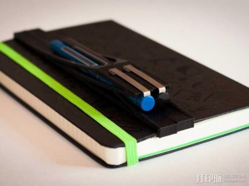 moleskine笔记本笔筒 3D打印模型渲染图