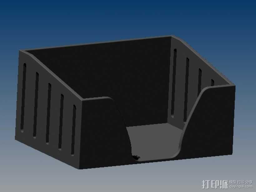 PostIt便利贴盒 3D打印模型渲染图