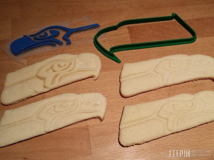 海鹰标志 饼干模具 3D打印模型渲染图