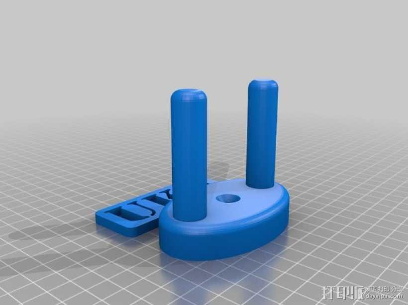 尤克里里墙上固定架 3D打印模型渲染图
