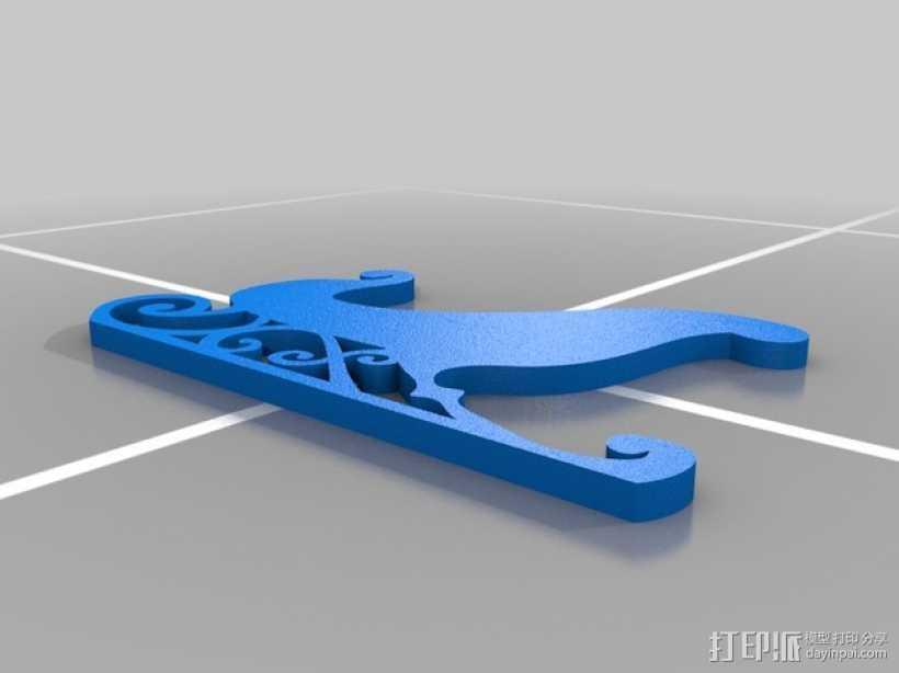 圣诞装饰品:雪橇+麋鹿 3D打印模型渲染图