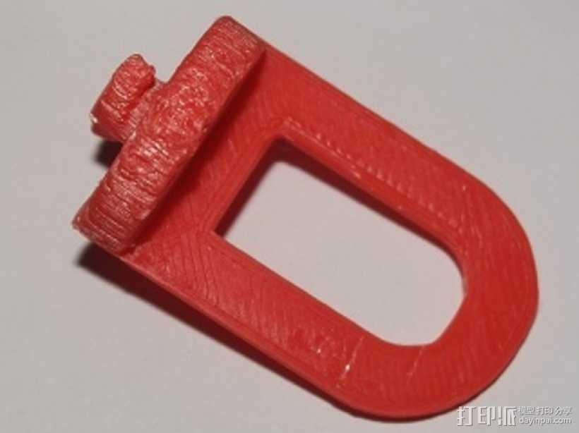 迷你挂钩 3D打印模型渲染图