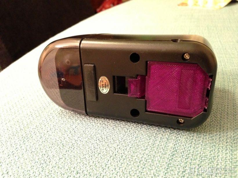 电动削铅笔器电池盒盖 3D打印模型渲染图