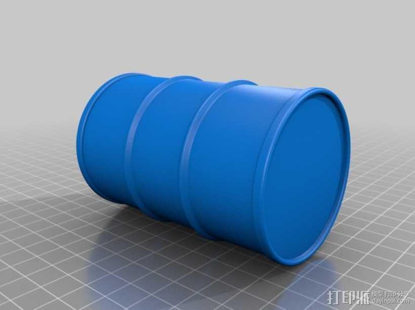 汽油桶 3D打印模型渲染图