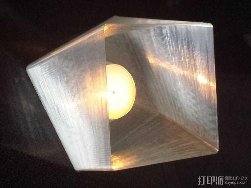 小圆蜡烛灯罩 3D打印模型渲染图