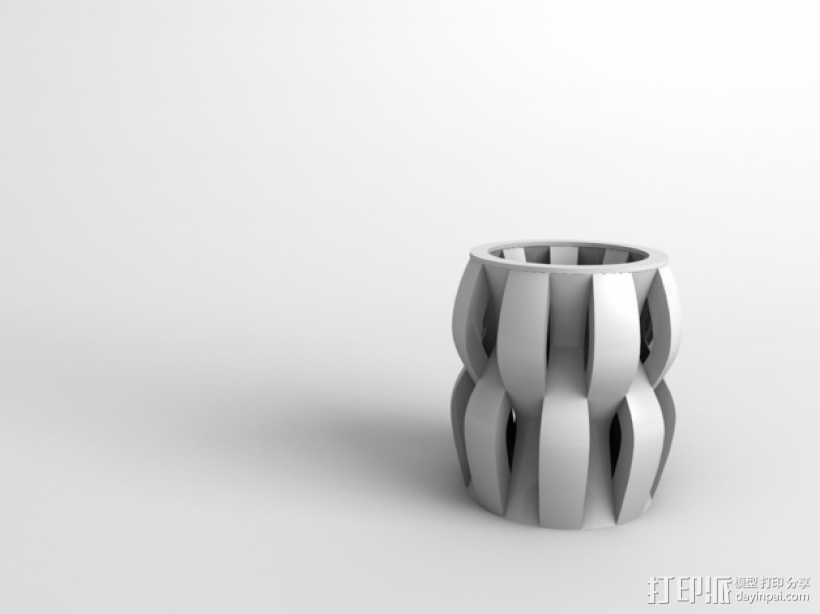 贝壳花瓶 3D打印模型渲染图