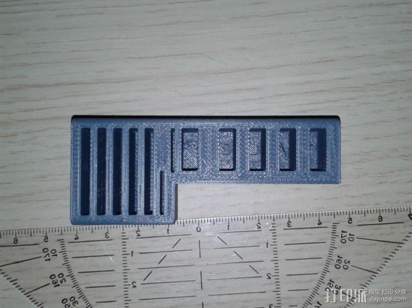 多功能SD/USB卡架 3D打印模型渲染图