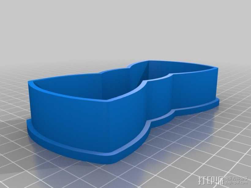 领结 饼干制作模具 3D打印模型渲染图