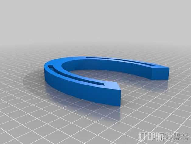 定制化马蹄铁 3D打印模型渲染图