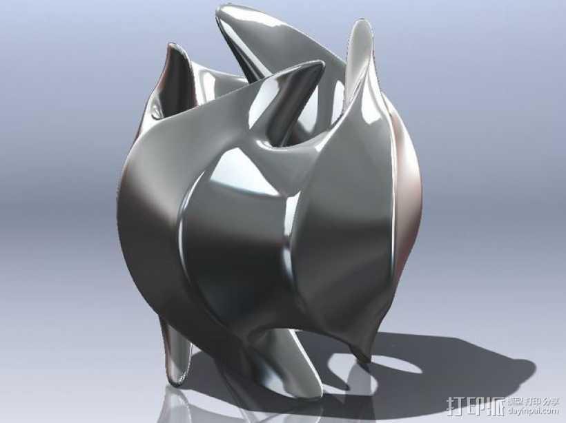 餐巾环 3D打印模型渲染图