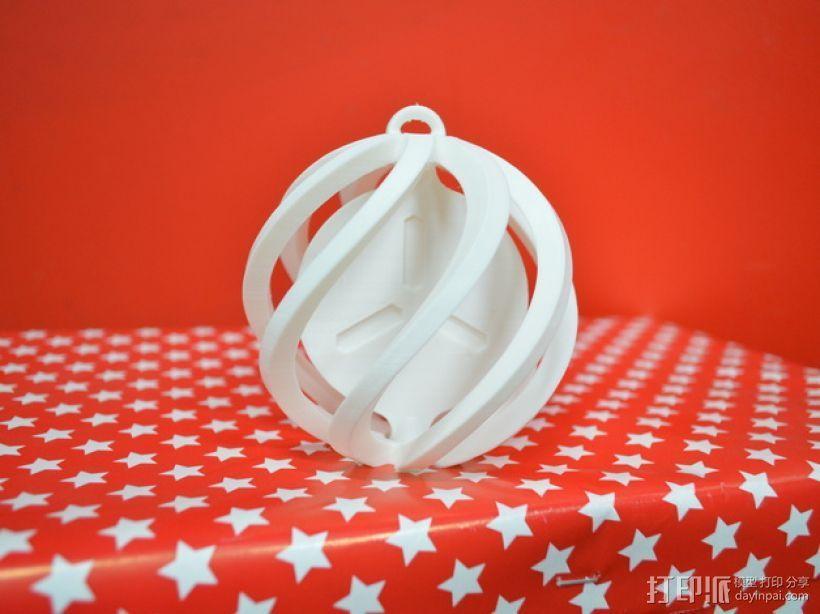 圣诞小球装饰品 3D打印模型渲染图