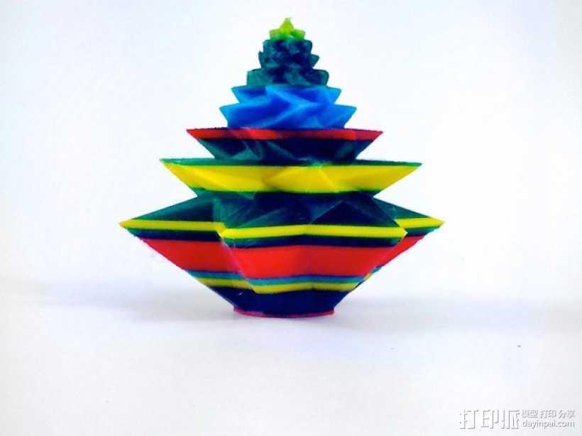 几何形圣诞树 3D打印模型渲染图