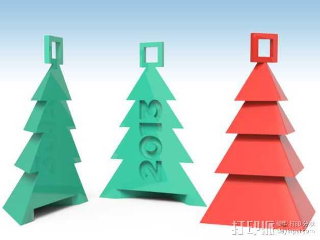 圣诞树装饰品 3D打印模型渲染图