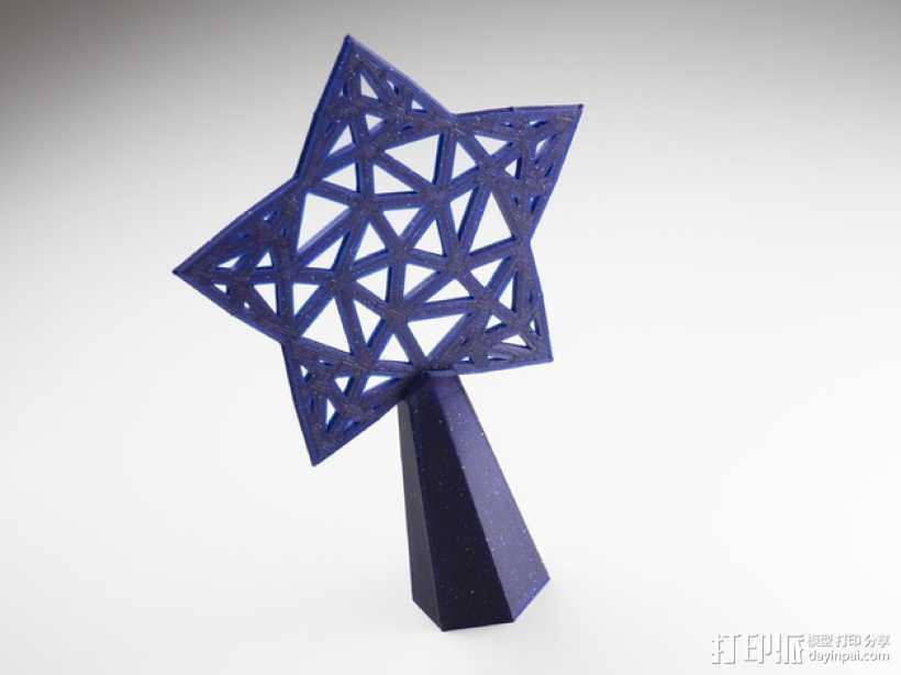 Stargazy圣诞树顶部装饰品 3D打印模型渲染图