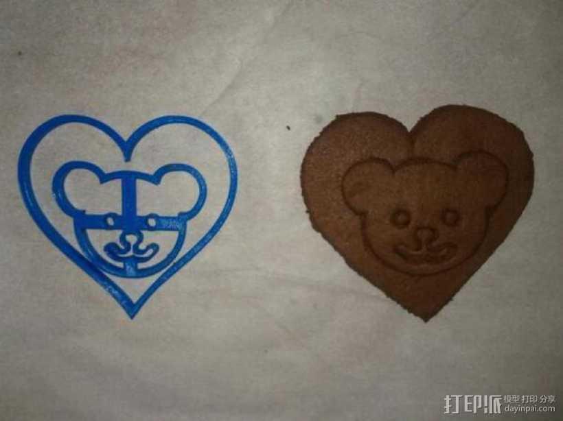 小熊 饼干制作模具 3D打印模型渲染图