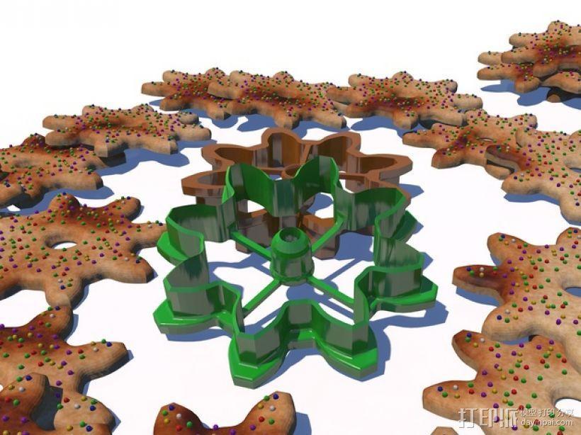 齿轮 饼干制作模具 3D打印模型渲染图