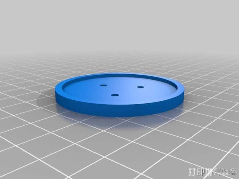 定制化纽扣 3D打印模型渲染图