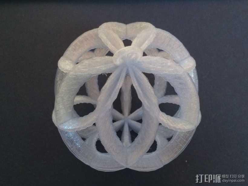 螺旋小球装饰品 3D打印模型渲染图