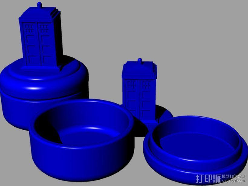 塔迪斯 圆形小盒 3D打印模型渲染图
