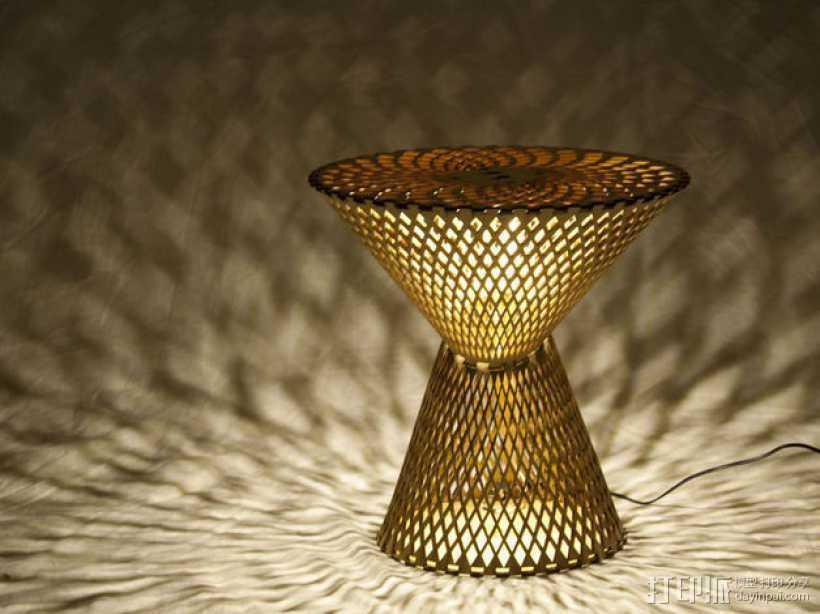 Kerf桌面灯罩 3D打印模型渲染图