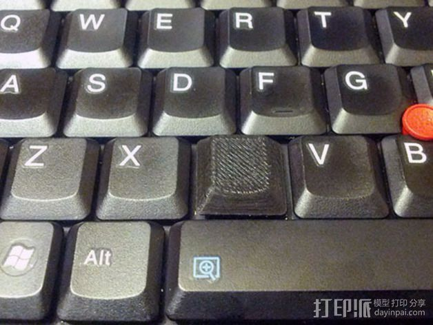 "Thinkpad X61T平板电脑""C""键 3D打印模型渲染图"