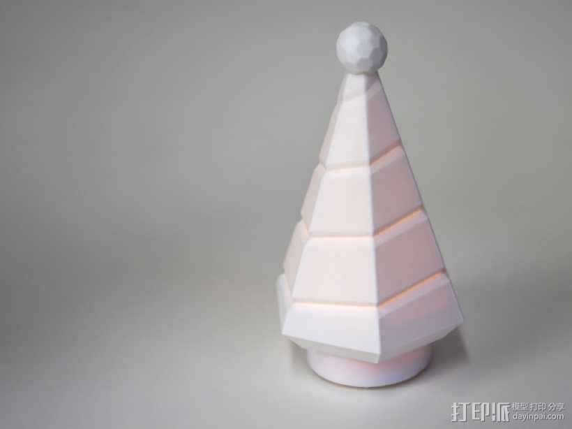 迷你树灯 3D打印模型渲染图