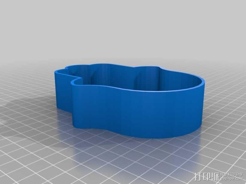 幸运之手 饼干制作模具 3D打印模型渲染图