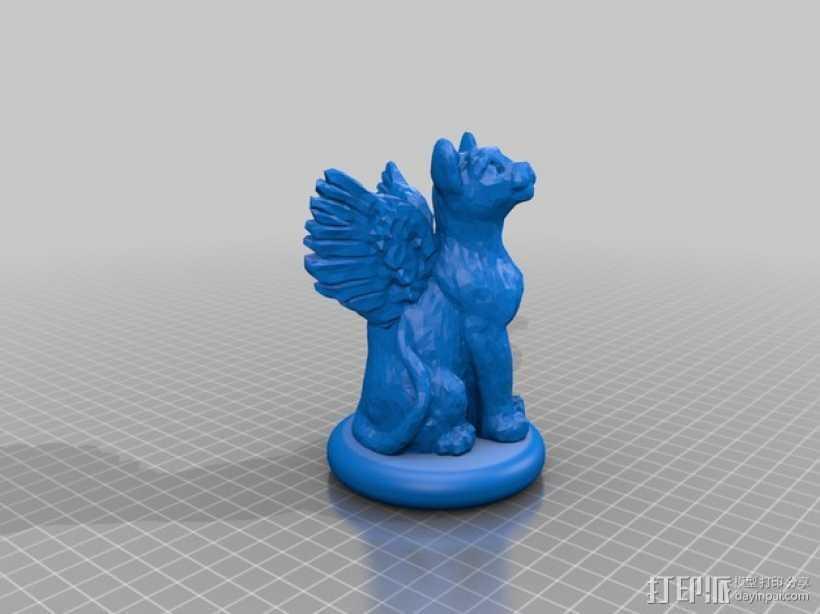 小猫圣诞树树顶装饰品 3D打印模型渲染图