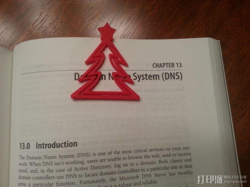 圣诞树形书签 3D打印模型渲染图