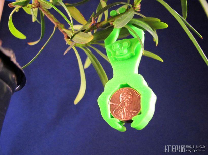长臂猿挂饰 3D打印模型渲染图