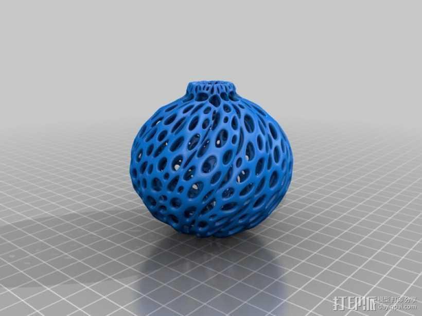 镂空小球 装饰品 3D打印模型渲染图