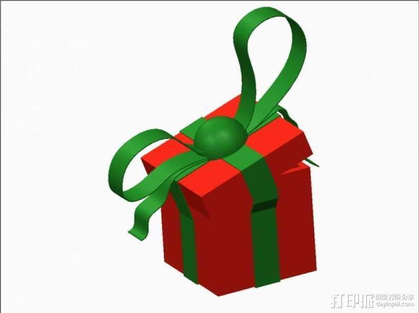 圣诞节礼物盒 3D打印模型渲染图