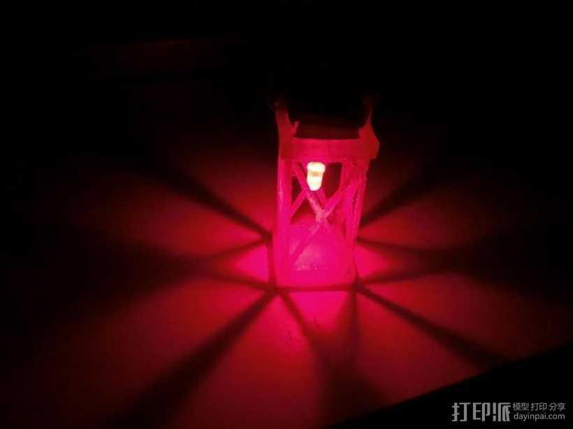 圣诞节LED提灯 3D打印模型渲染图