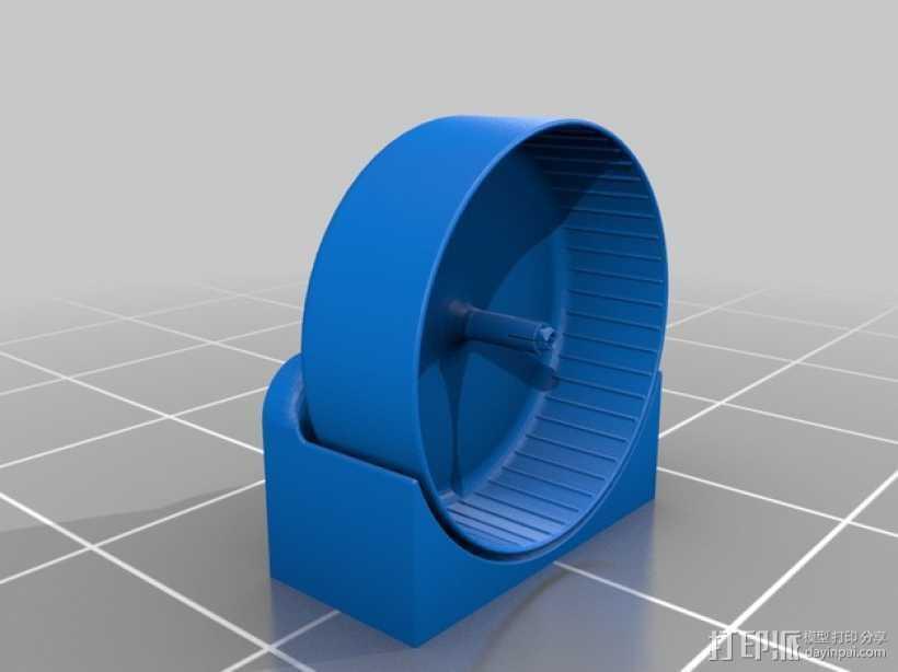 仓鼠滚轮 3D打印模型渲染图
